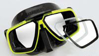 Look/Look HD Dive Masks Technisub optical glasses bifocals positive correction.
