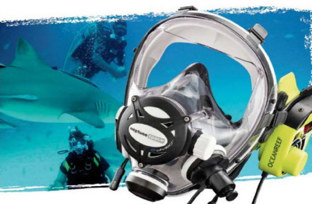 Ocean Reef Full face dive mask Neptun Space G-divers