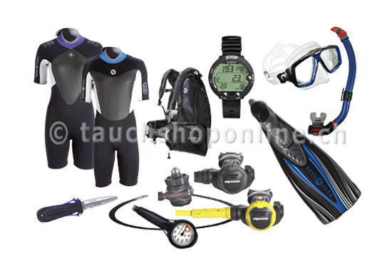 Dive gear set tropic warmwater
